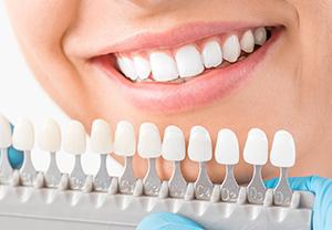 Person Choosing Dental Crowns
